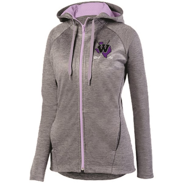 WHS Golf - #5558  Ladies Zoe Tonal Heather Full Zip Hoodie