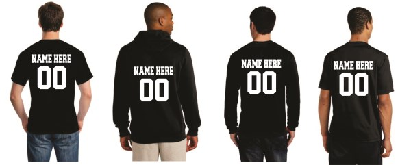 Tx Ambassadors - OPTIONAL NAME & # ON BACK