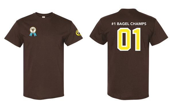 Einstein - BAGEL CHAMPS Tee (10 pc minimum)