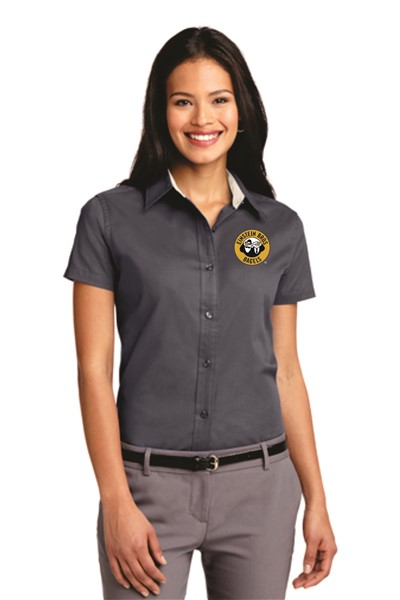 Einstein - L508 - Port Authority Ladies S/S Button Down - GRAPHITE