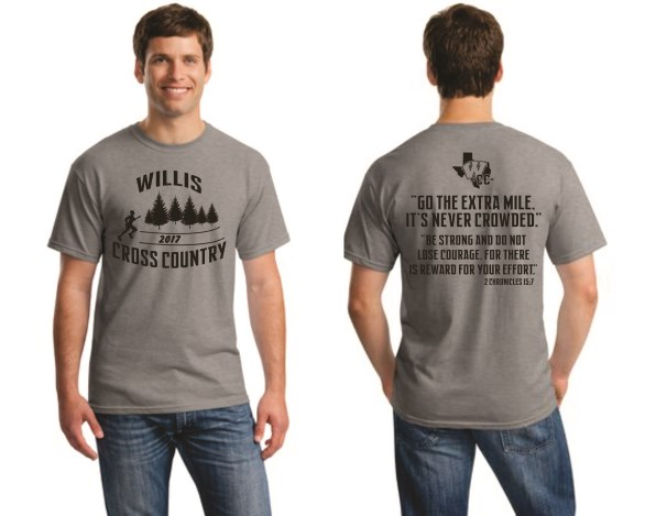 WHS Cross Country - Grey Spirit Tee 5000